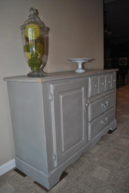 Dark Grey Medium Dresser Buffet
